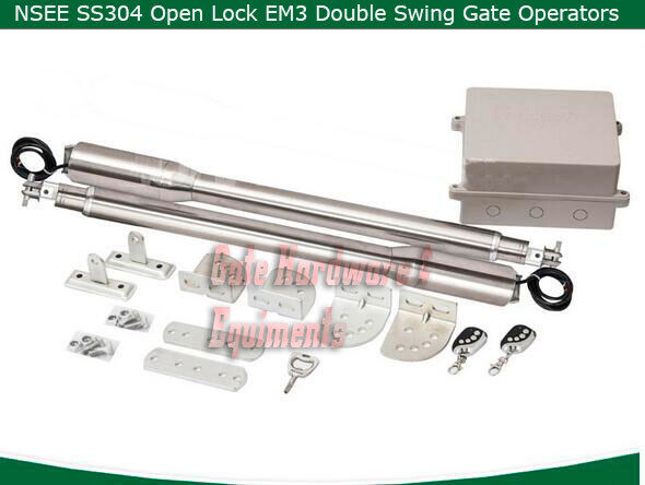 Nsee Ss304 Em3 Residential Heavy Duty Automatic Dual Swing