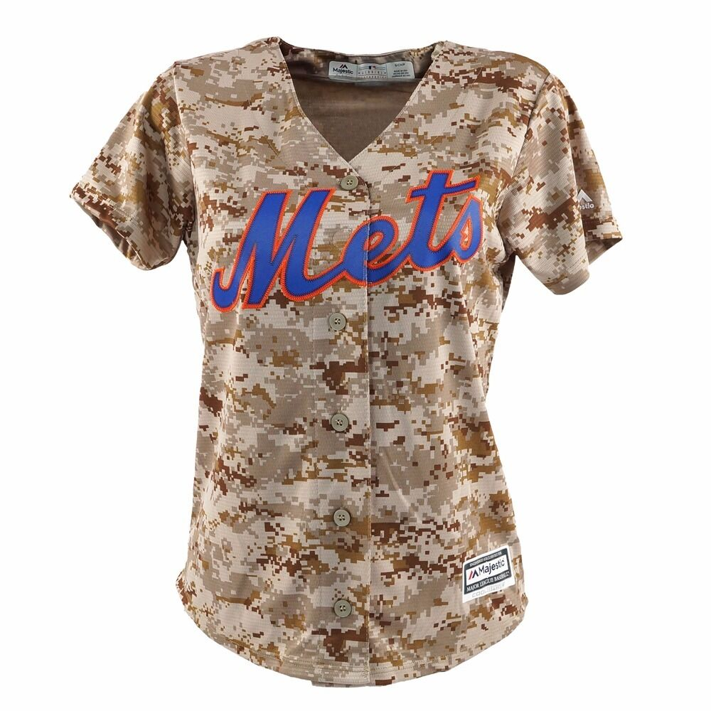 super popular 53d0c a9b45 2016 NEW YORK METS MAJESTIC USMC CAMO COOL BASE JERSEY ...
