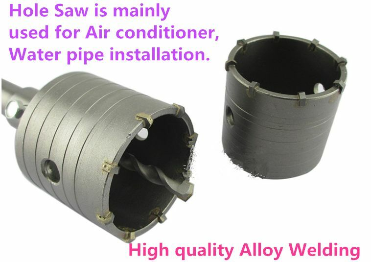 Air Wall Sawing : Air condition water pipe contrete wall hole saw single