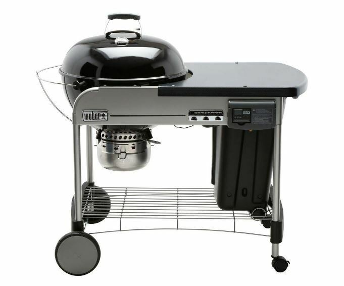 22 inch charcoal grill black wheels weber thermometer bbq kettle outdoor new ebay. Black Bedroom Furniture Sets. Home Design Ideas