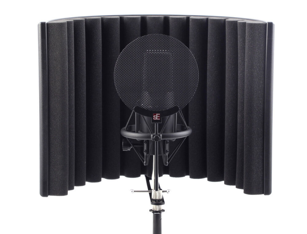 se electronics rf x reflexion reflection filter portable microphone vocal booth ebay. Black Bedroom Furniture Sets. Home Design Ideas
