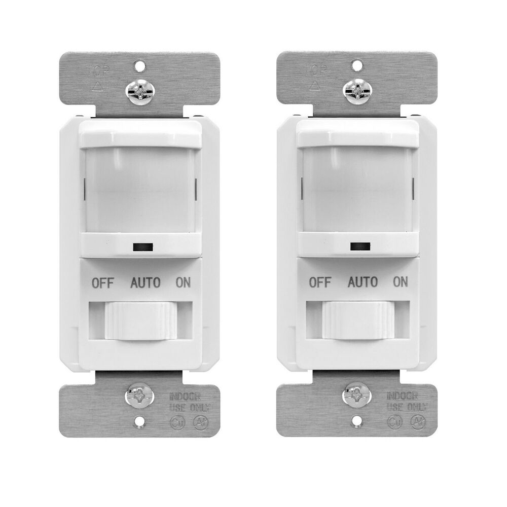 TSOS5 PIR Motion Sensor Light Switch Occupancy Detector (2 Pack ...