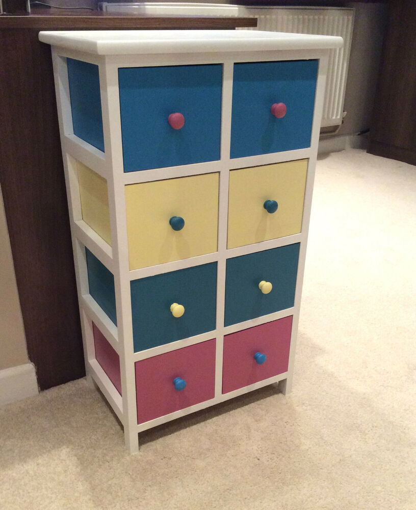 8 drawer chest of draws wooden shabby chic french chic - French shabby chic bedroom furniture ...