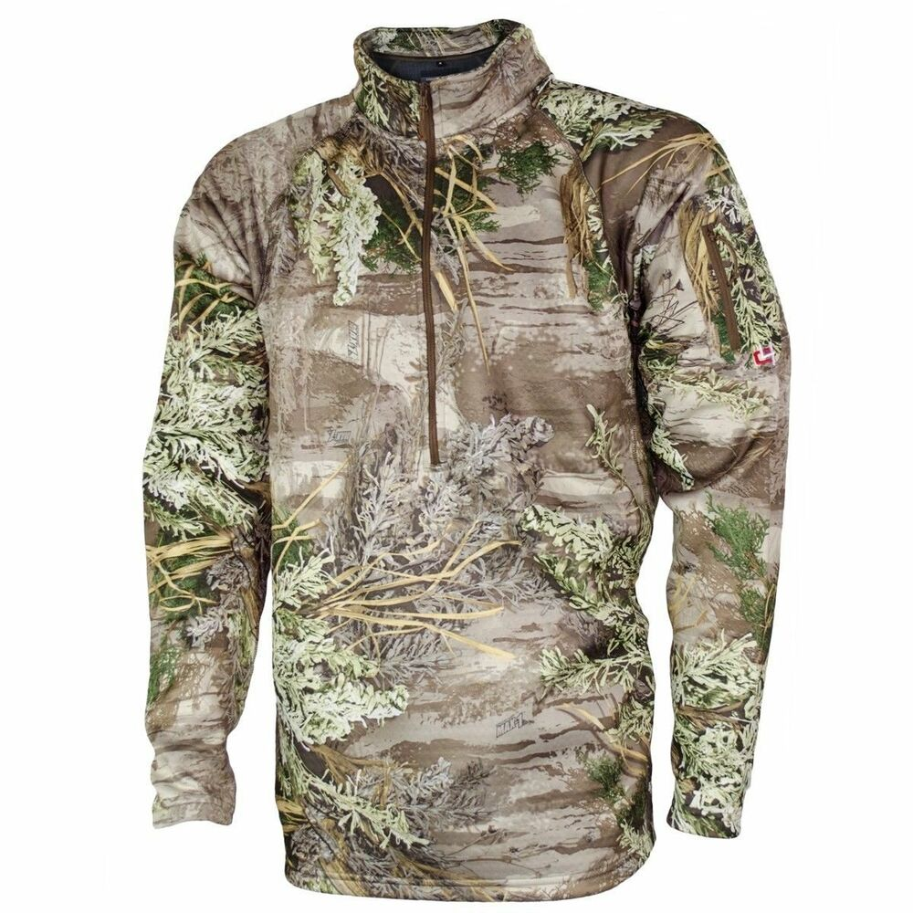 Easton core4element selway fleece 1 4 zip pullover size for Realtree camo flannel shirt