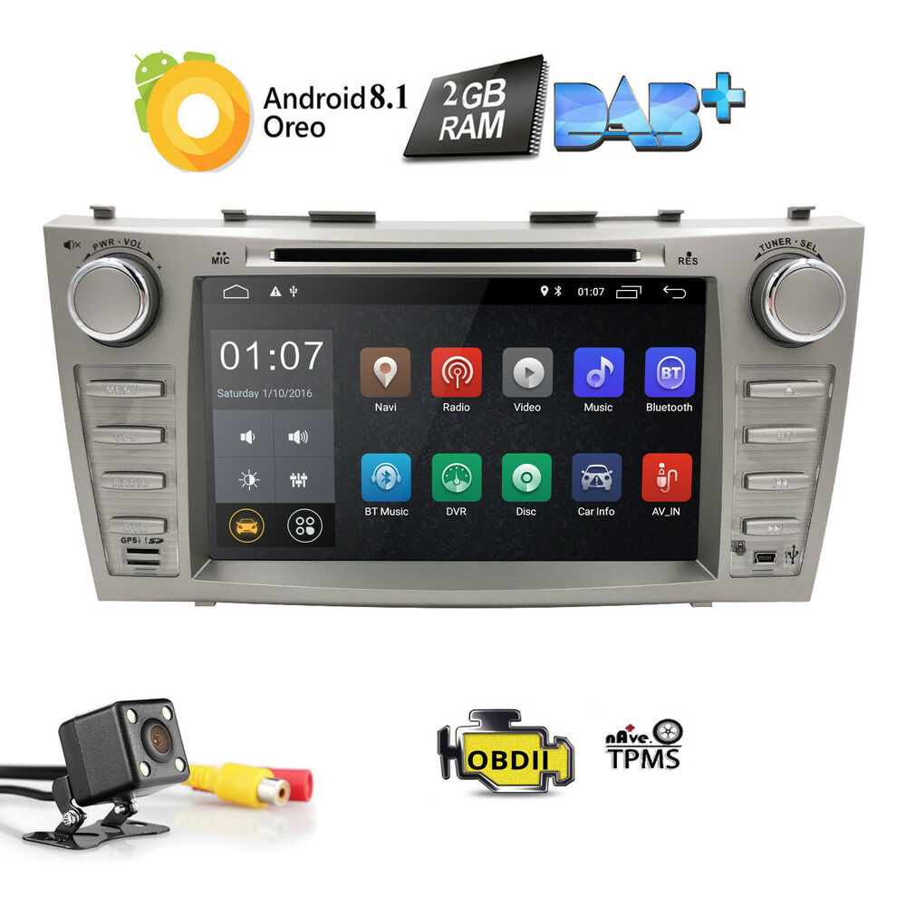 android 5 1 in dash car radio dvd gps for toyota camry 2007 2008 2009 2010 20. Black Bedroom Furniture Sets. Home Design Ideas