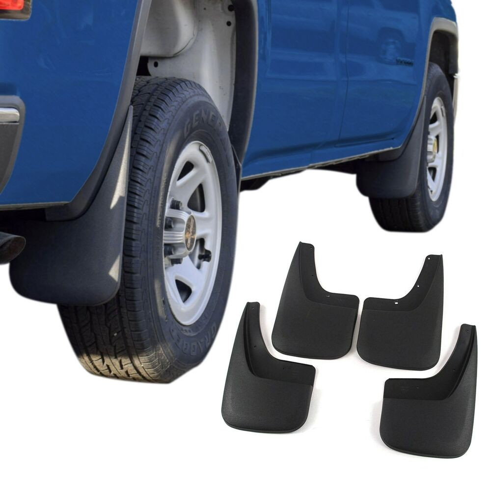 Sierra 1500 Mud Flaps 2014-2017 GMC Mud Guards Splash 4 Piece Front and Rear | eBay