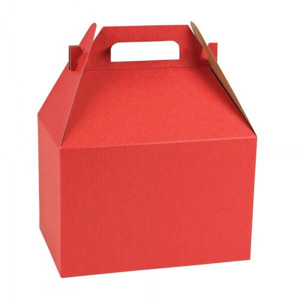 Large red gable gift boxes holiday christmas
