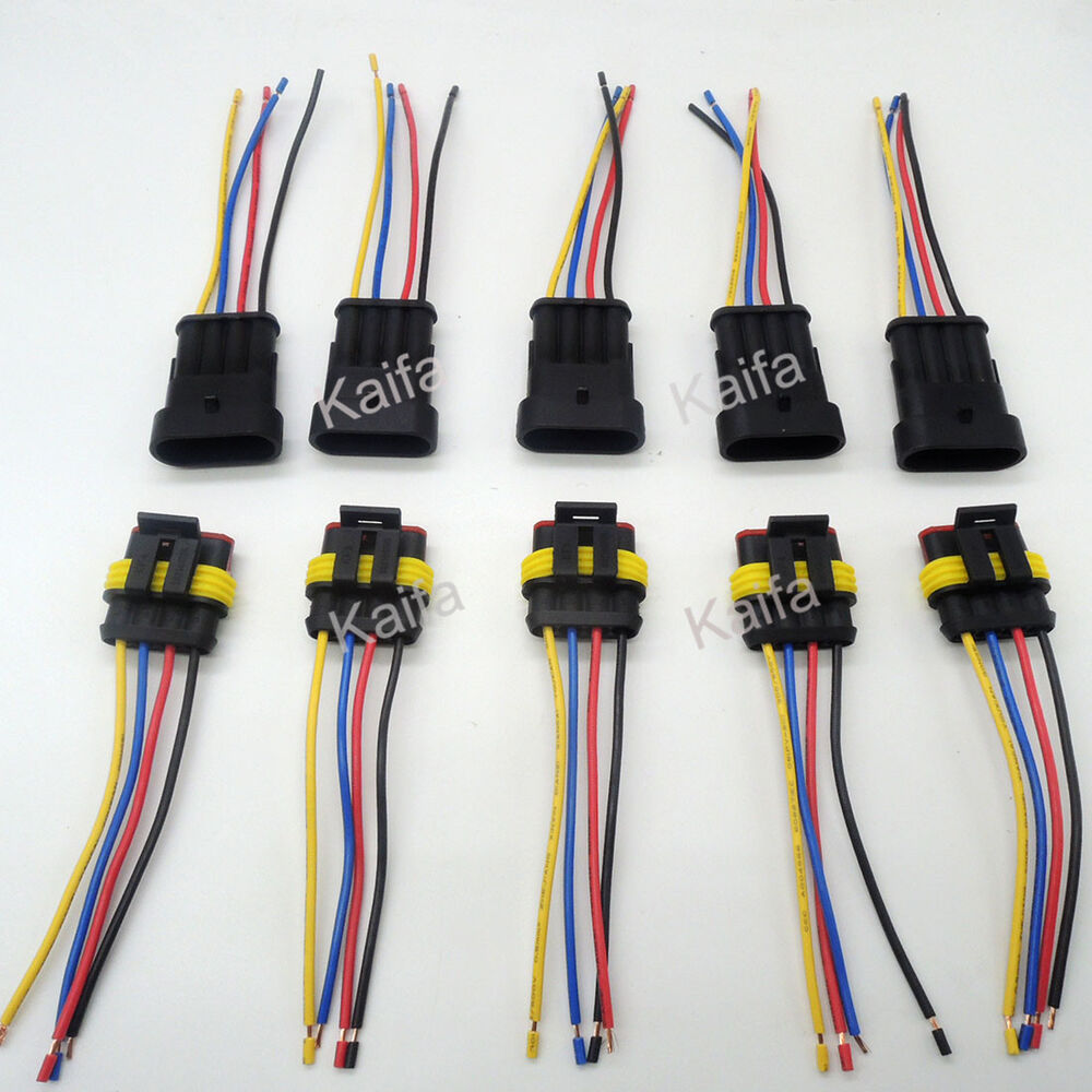 s-l1000  Prong Wire Harness Connectors on cd player, honda pioneer, fuel pump,