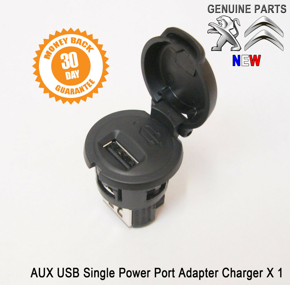peugeot 207 307 308 407 usb single power outlet port charger socket new ebay. Black Bedroom Furniture Sets. Home Design Ideas