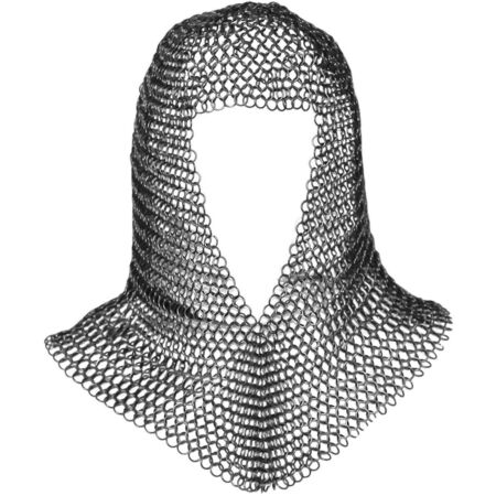 img-Chainmail Coif For Sale Chain Coif V Neck Chain Mail Hood Chain Mail Clothing