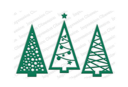 CHRISTMAS TREE CUTOUT DIE-Impression Obsession/IO Stamps