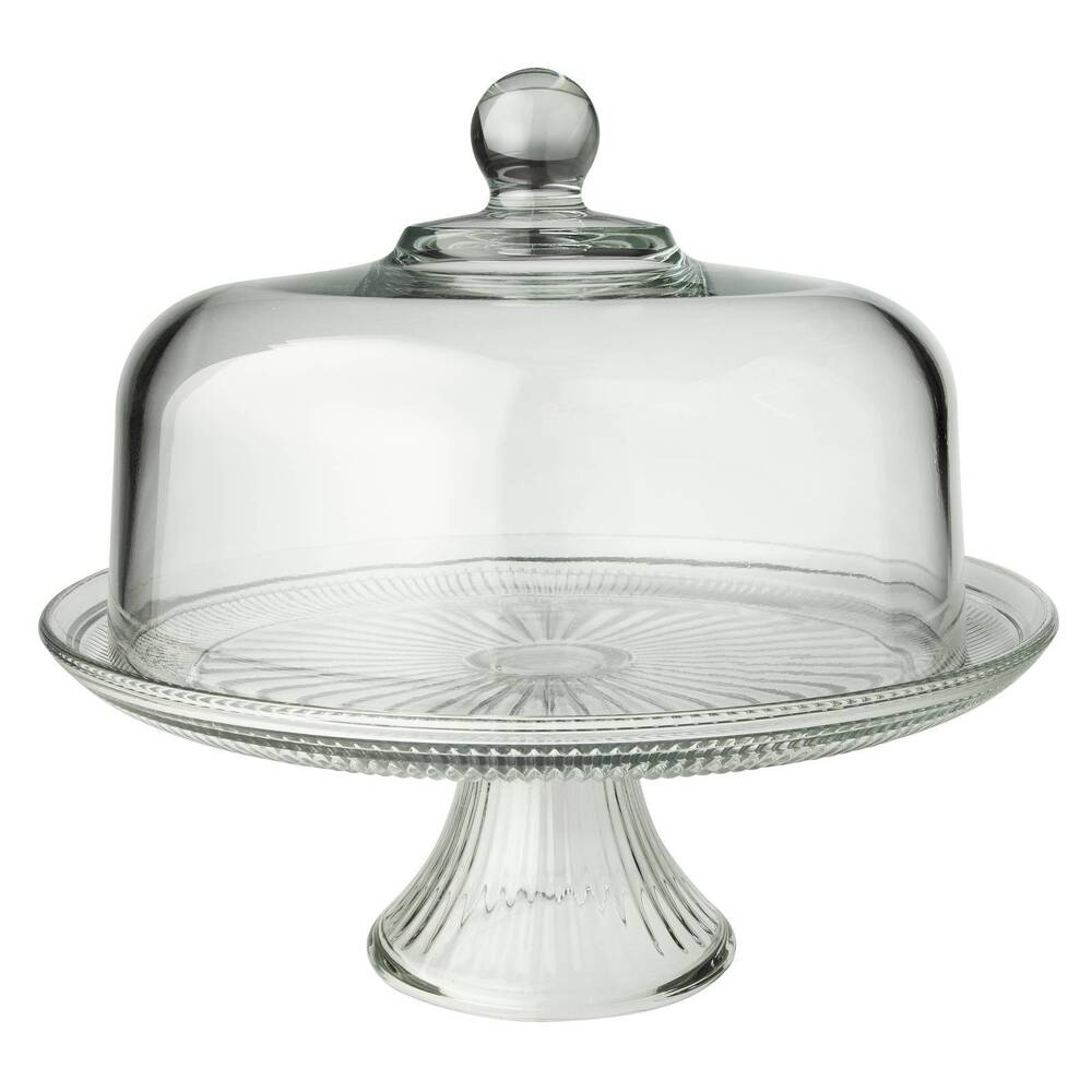 cake stand with cover ebay. Black Bedroom Furniture Sets. Home Design Ideas