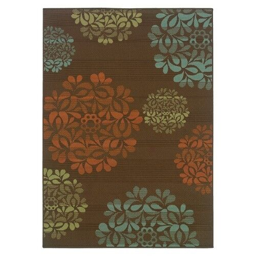 Starburst Indoor Outdoor Area Rug Brown