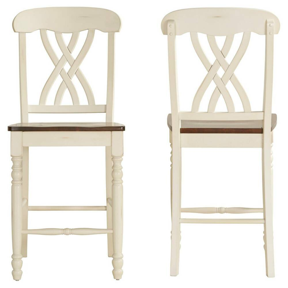 Countryside 24 Quot Counter Stools Hardwood Antique White Set