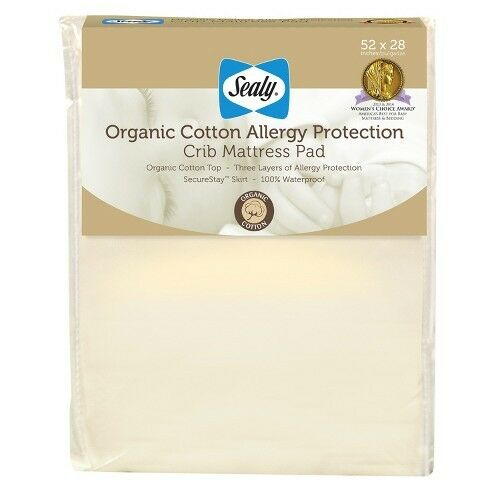 Sealy Allergy Protection Crib Mattress Pad Cover With