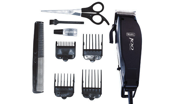 wahl 100 series 10 piece corded hair mains clipper trimmer cutting kit 79233. Black Bedroom Furniture Sets. Home Design Ideas