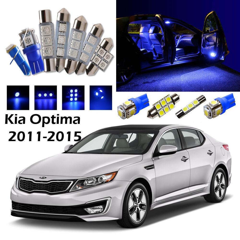 Details About 12 Blue Led Interior Light Package Kit For Kia Optima 2017
