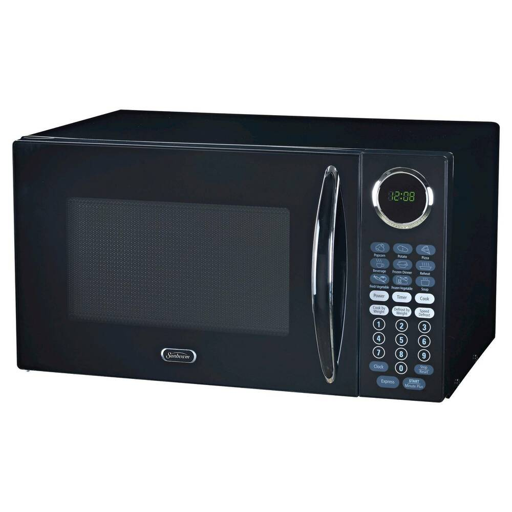 Sunbeam 174 0 9cu Ft 900 Watt Microwave Oven Black