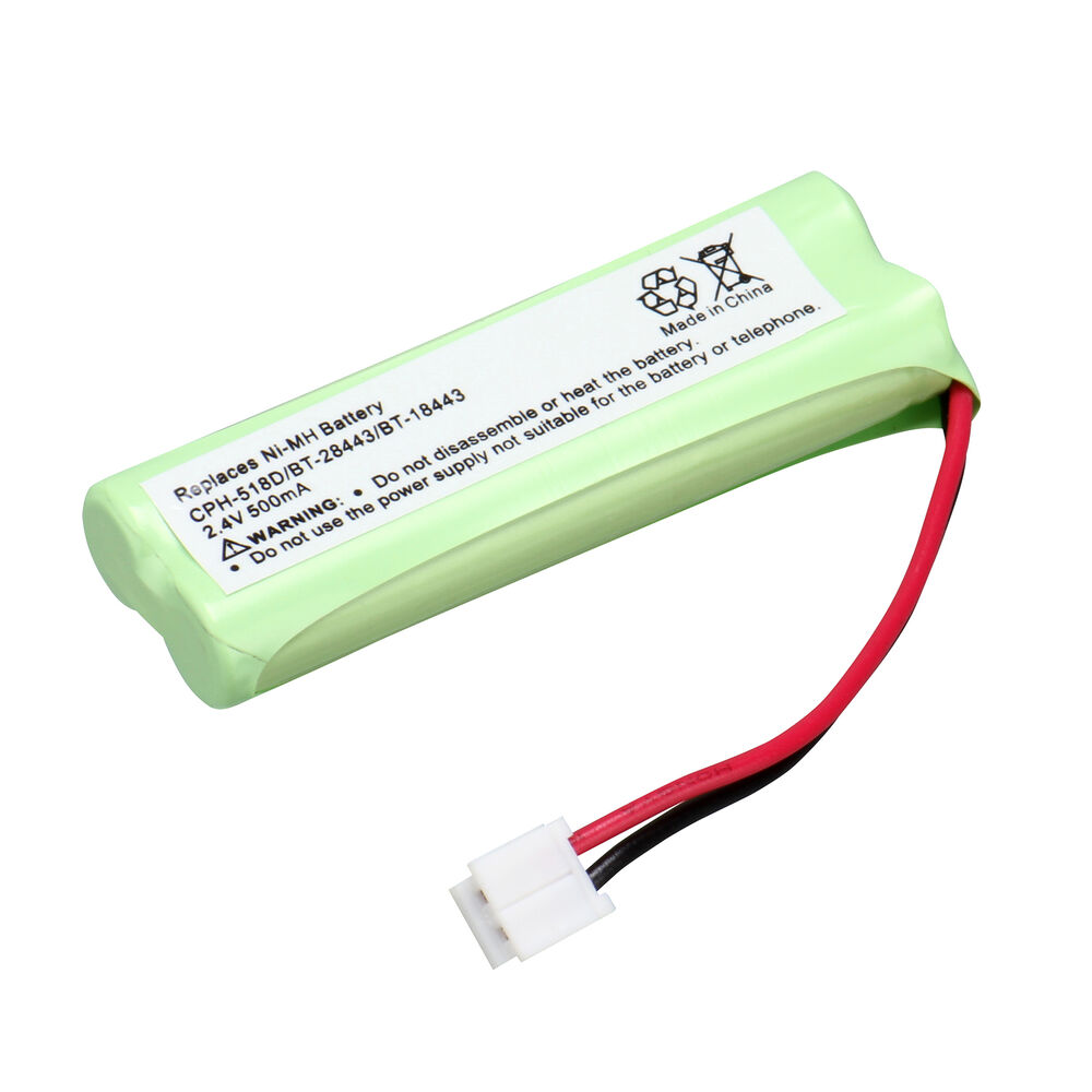 home phone 2 4v 500mah ni mh rechargeable battery for cph 518d bt 28443 bt 18443 ebay. Black Bedroom Furniture Sets. Home Design Ideas