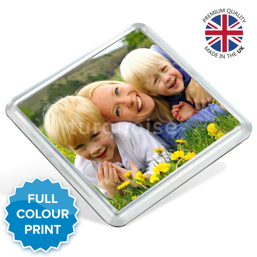 Personalised Acrylic Photo Coasters Square Drink Mats Gift