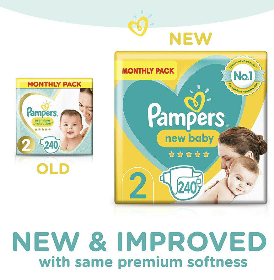 pers size 2 nappies baby premium protection monthly saving pack 240 nappies ebay
