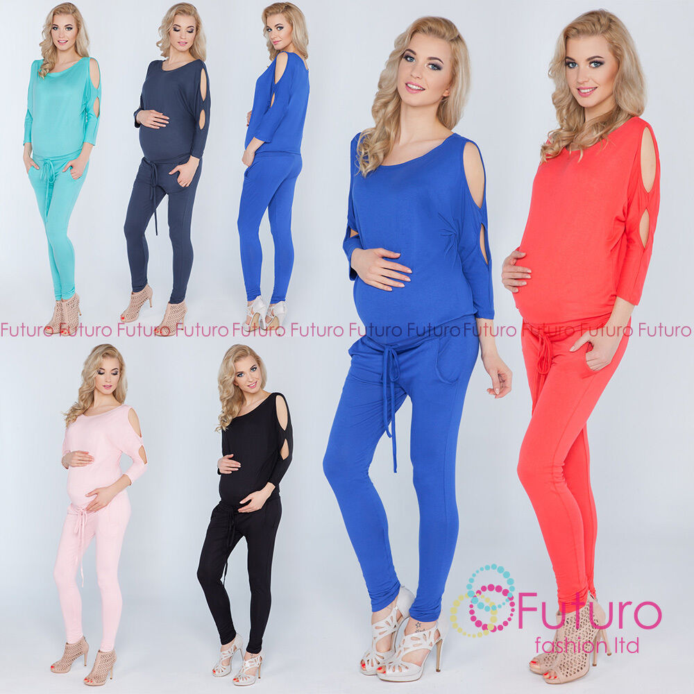 0e66a63f513f Details about Ladies Maternity Jumpsuit With Pockets Open 3 4 Sleeve  Playsuit Sizes 8-14 1081