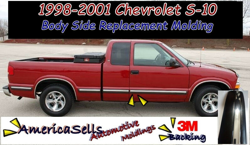 1998 2001 Chevrolet S10 Blazer Body Side Chrome Molding