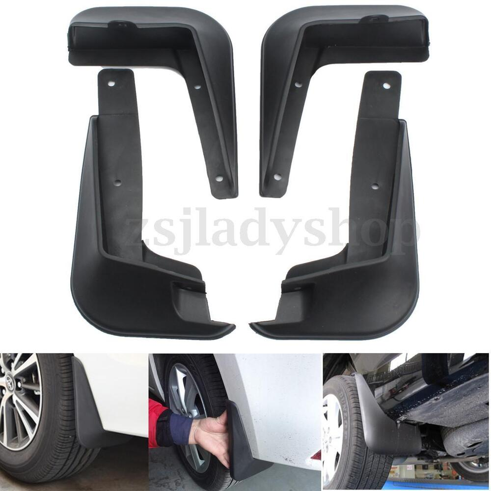 4pcs mud flaps splash mudguards guard fenders black for. Black Bedroom Furniture Sets. Home Design Ideas