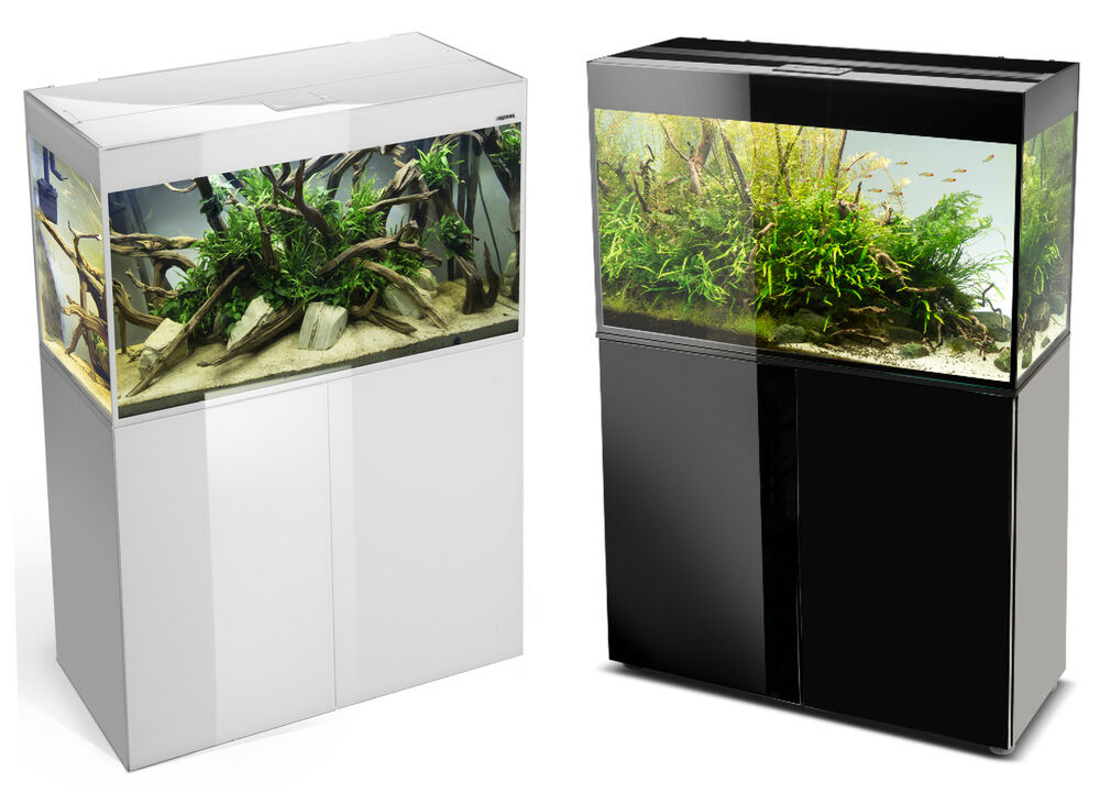 aquael aquarium glossy mit unterschrank led beleuchtung aquarien kombination ebay. Black Bedroom Furniture Sets. Home Design Ideas