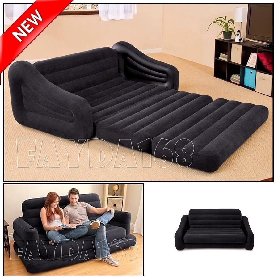 Large Futon Sectional Sofa Couch Air Bed Loveseat Sleeper Living Room Furniture Ebay