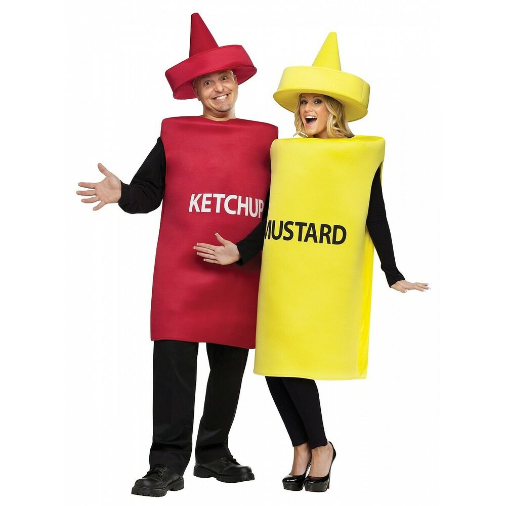 Ketchup And Mustard Costume Adult Funny Couples Halloween