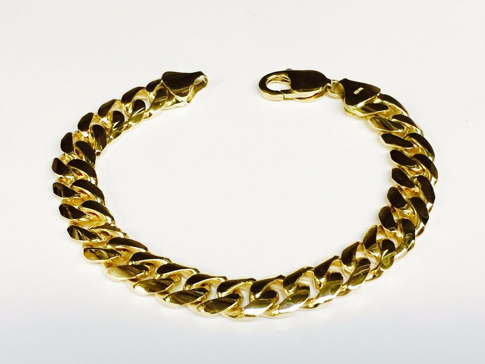 14k solid gold handmade miami cuban curb link 18k solid gold handmade miami cuban curb link mens