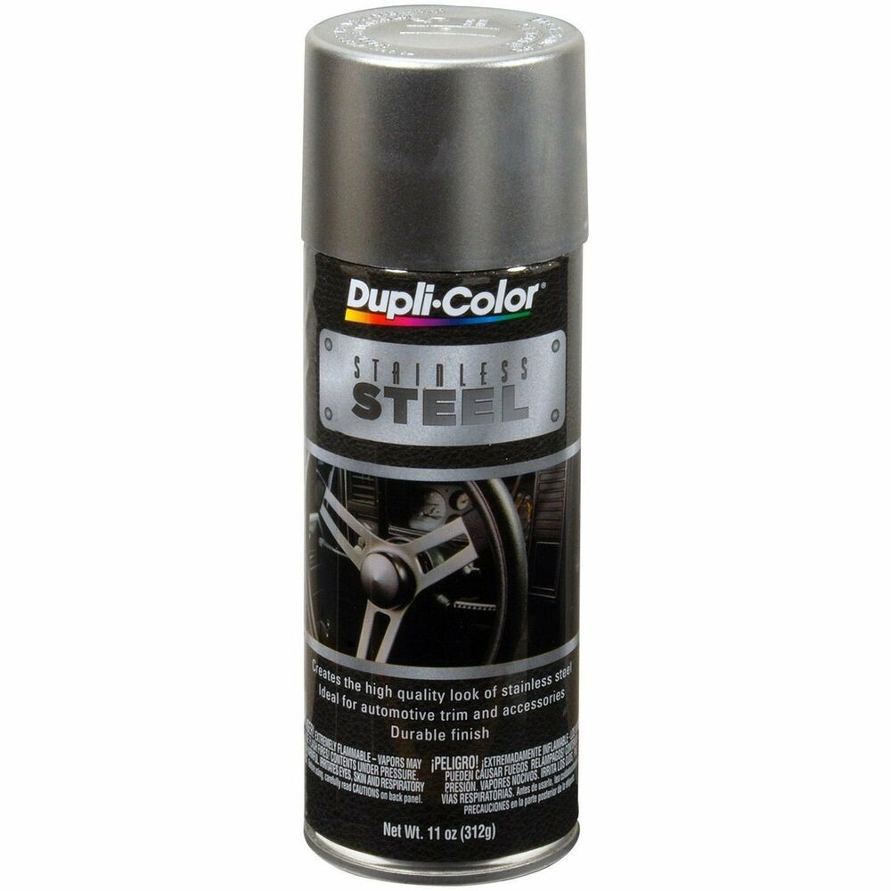 duplicolor ss100 stainless steel spray paint aerosol 11oz. Black Bedroom Furniture Sets. Home Design Ideas