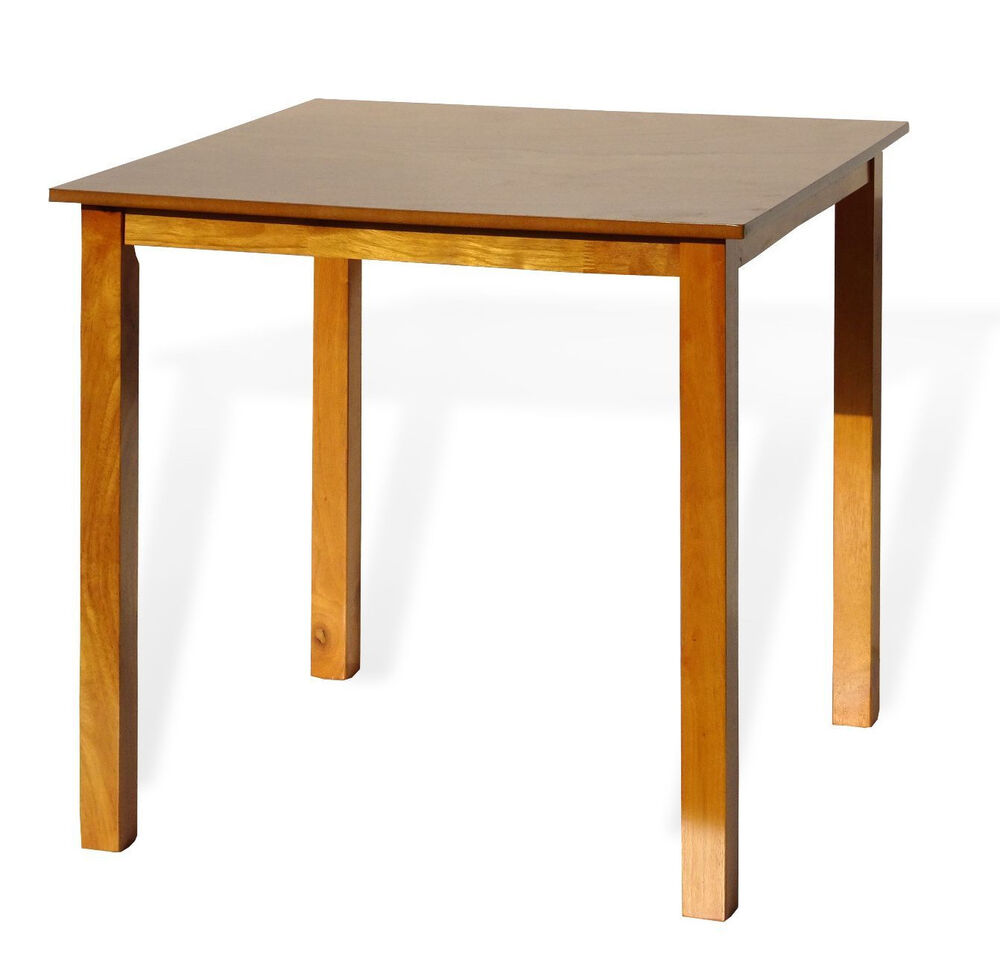 Solid Wood Kitchen Tables: Contemporary Square Dining Kitchen Solid Wood Table In