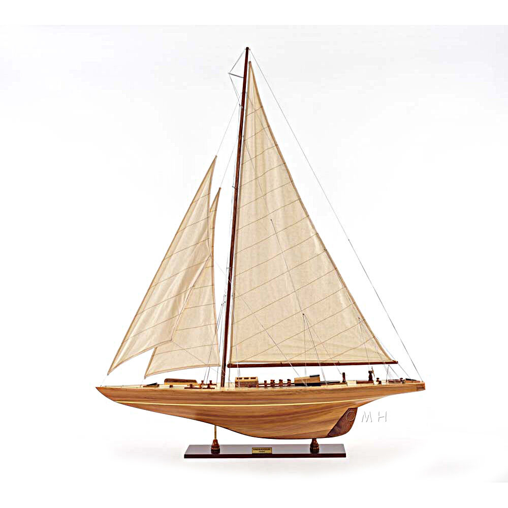"America's Cup Endeavour 1933 Yacht Wood Model 40"" Sailboat J Boat New 