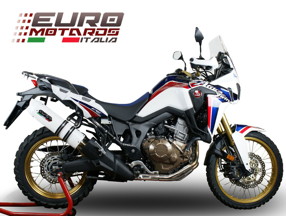 honda crf 1000 l africa twin 2015 2016 gpr exhaust silencer albus white new ebay. Black Bedroom Furniture Sets. Home Design Ideas