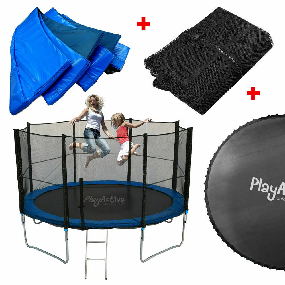 Trampoline Parts Plum: TRAMPOLINE SRING COVER JUMP MAT NET ENCLOSURE RAIN COVER