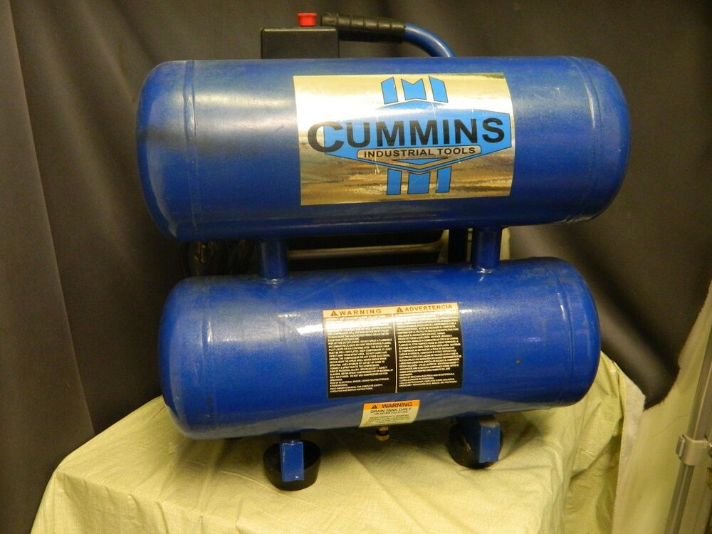 Cummins Industrial Tools Twin Tank Air Compressor 2 5 Hp
