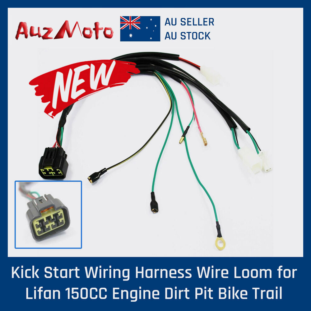 Lifan Wiring Harness Schematic 2019 125cc Motor Wire Kick Start Loom For 150cc Engine 110cc Diagram