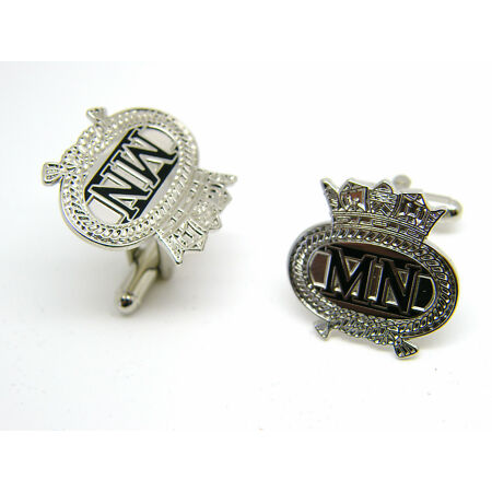 img-THE ROYAL MERCHANT NAVY LARGE BADGE RN CUFFLINKS MILITARY GIFT IN BOX