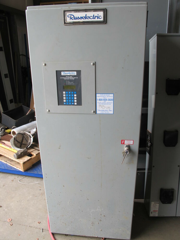 Russelectric 400 Amp Automatic Transfer Switch Ats49 Ebay