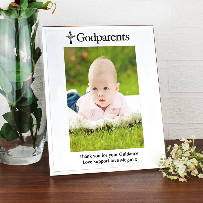 PERSONALISED Godparents Photo Picture Frame Gift Engraved ...