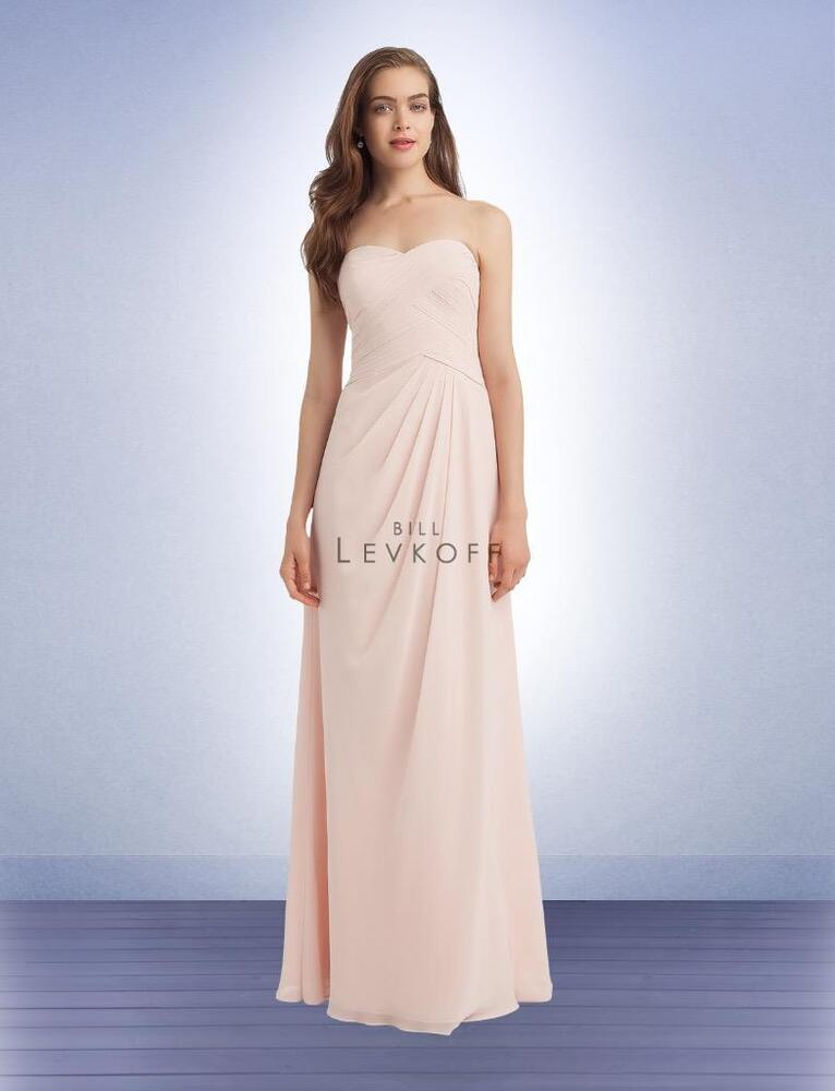0e081af8c0d Details about Bill Levkoff Bridesmaid Dress 1125 Prom Wedding Chiffon Long  Gown Cap Sleeve NEW