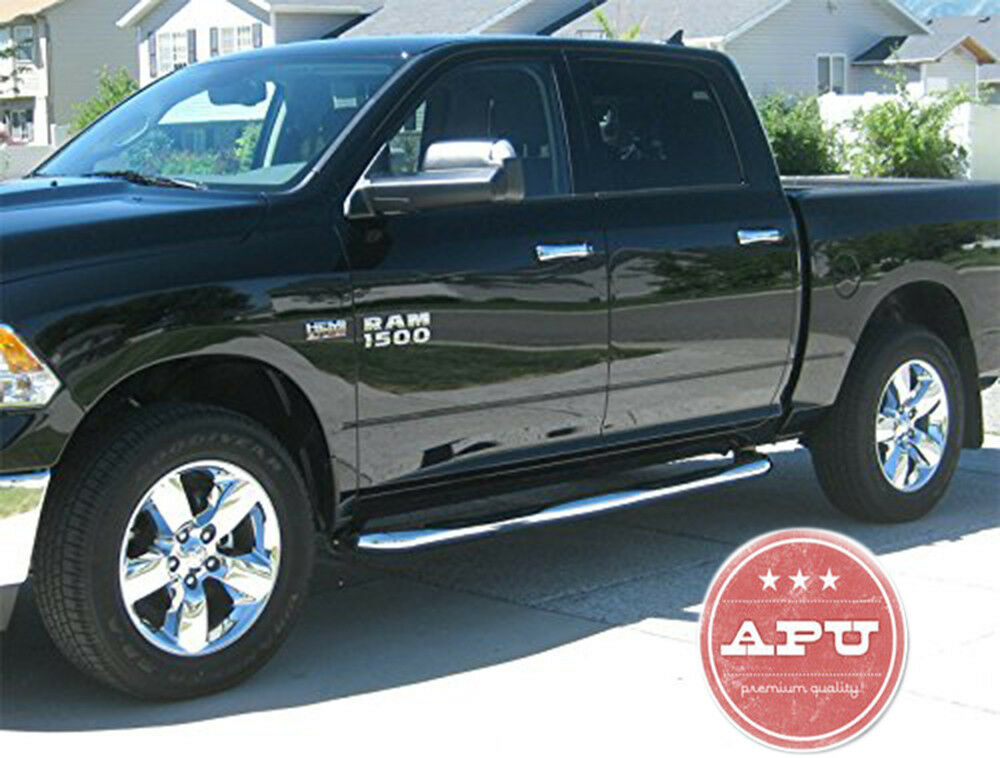 Ram 1500 Running Boards >> APU 2009-2018 Dodge Ram 1500 CREW CAB Stainless Side Steps Running Boards | eBay