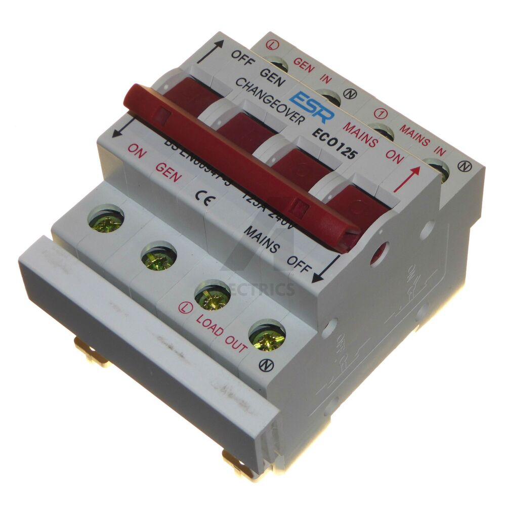 Single Phase Switches : Amp changeover switch v mains to generator transfer