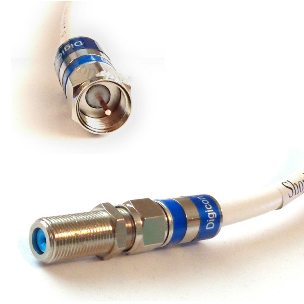 Coaxial Cable Extender : White rg ohm coax male female extension cable ghz