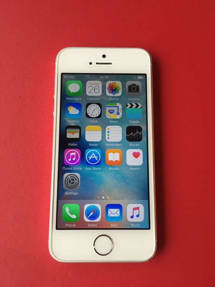 apple iphone 5s 16gb silver unlocked smartphone ebay. Black Bedroom Furniture Sets. Home Design Ideas