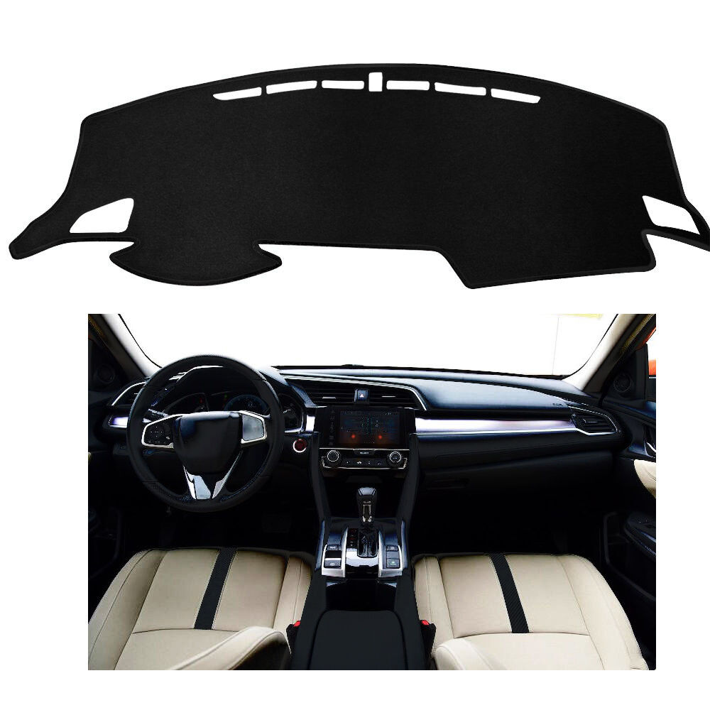 fits for honda civic 10th 2016 dashmat dashboard cover dash mat cover fly5d ebay. Black Bedroom Furniture Sets. Home Design Ideas