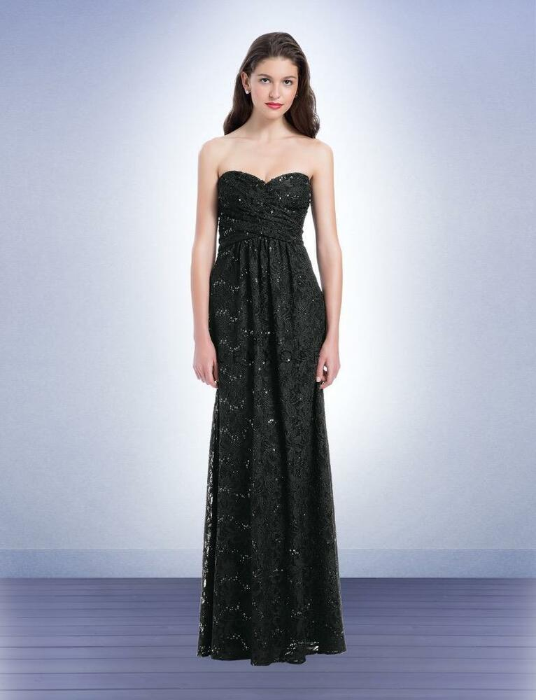 eddfe801d30 Details about Bill Levkoff Bridesmaid Dress 1175 Prom Wedding Long Gown  Strapless Sequin NEW