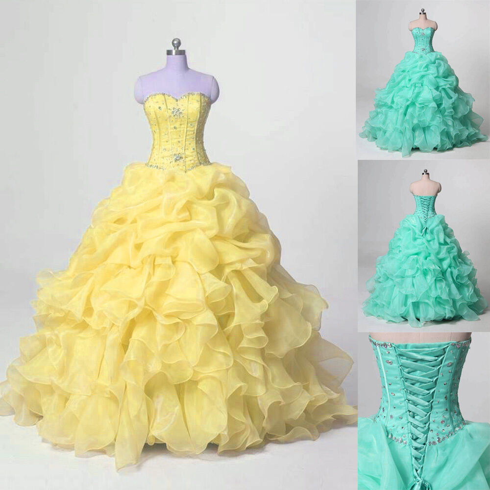 Sweet 16 quinceanera dresses ball gown formal prom party for Dresses for wedding party